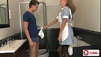 Horny young blonde nurse seduces her patient an...