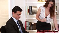Busty secretary getting fucked on table)