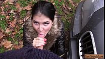 Teen Lady D hitchhikes and gets rammed by stran... thumb