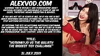 Download video bokep Hotkinkyjo vs Goliath The Biggest Toy Challange... 3gp terbaru
