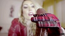 Candy May - Strokes BBC with leather gloves - download porn videos