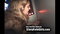 cum slut kc gets her tits glazed with cum before eating it in a seedy gloryhole