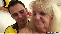 Old bitch jumps on his horny cock - Download mp4 XXX porn videos