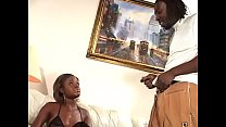 Ebony teen loves getting fucked in the ass by massive black dick