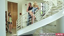 (Alexis Texas) sucks cock and gets pounded on t...