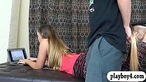 Download video bokep Two hot ass babes fucked by horny dudes in many... 3gp terbaru