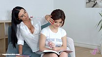 Lesson dreams by Sapphic Erotica - sensual lesbian scene with Kyra Queen Veronic