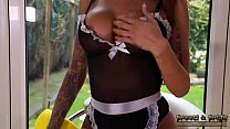 UK Babe Priya Young Maid Fantasy Strips Masturb...