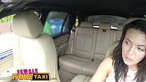Female Fake Taxi Cheating hubby eats pussy in cab
