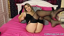 Kimber Lee Makes You Cum in Her Nylon Stockings! - download porn videos
