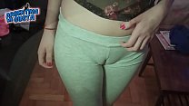 blonde teen a on cameltoe amazing tits! round Huge