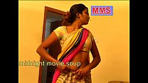 very hot indian housewife after bath wearing sa...