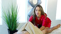 Shy guy on his first massage with Kimmy Granger...