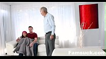 Dad Almost Caught Me Fucking My Step-bro| FamSuck.com