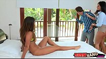 India Summer and Eva Lovia nasty 3way