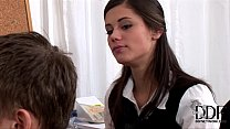 Sexy young Little Caprice doing a blowjob & gets cumshot Thumbnail