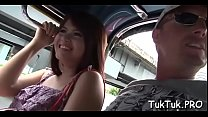 Thai slut gets mouth screwed