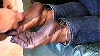 Fully Fashioned Stocking Foot tease and Foot jo... Thumbnail