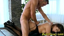 Assfucked eurobabe loves hard pounding