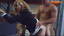 Desperate for money MILF gets pounded at the pa...