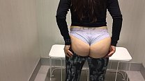 PAWG try out leggings changing room
