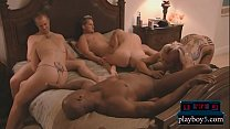 Long time married amateur couple try to be swin...