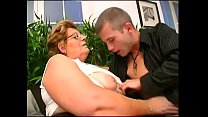 Saggy granny ravaged by tight young dude outdoors