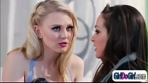 Models Aiden Ashley and Lily Rader lick their w...