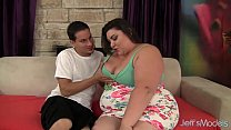 Cute and fat BBW Bella Bendz gets her pussy ham...