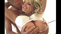 Blonde MILF with huge tits gets fucked)