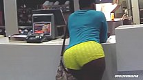 shorts booty yellow Tight