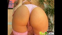 Tamed Teens Blonde Barbie teen swallows bucket ...