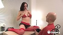 janessa teases her man and masturbates in front of him with dirty talk