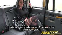 Fake Taxi Local escort fucks taxi man on her wa...