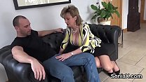 Unfaithful uk mature lady sonia flashes her gigantic globes