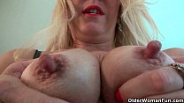 Nyloned soccer milfs Nyla and Shelby stripping off