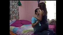 A not shy latin teen completely completely satisfies her man