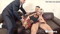 slutty school girl gets dped in the asshole by her piano teacher and friend