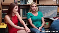 Mother and daughter punished with hard cock for shoplifting - iCamPorn.com