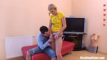Russian Blonde Stepsister Couch Fucked By Stepbro
