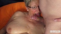 German granny fuck two dicks thumb