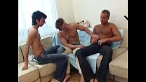 Hot young studs sucking and fucking orgy