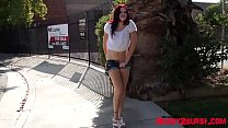 Bursting To Pee In Public, Hot Beautiful Teenag...