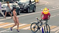 Hidden Cam Captures Jeny Getting Stripped in Public