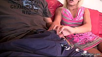 Horny blonde cheats with her BF's bro Thumbnail