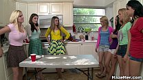Sexy College Amateurs In The Kitchen Getting Ha...