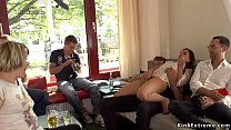 Download video bokep Hairy pussy slave fucked in public bar 3gp terbaru