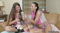 Petite Teens in First Time Lesbian and Anal Sex