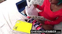 Ebony Step Daughter Sucking Dick Doing Home Work Blowjob Thumbnail