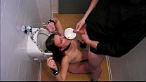 latina girl swallow piss